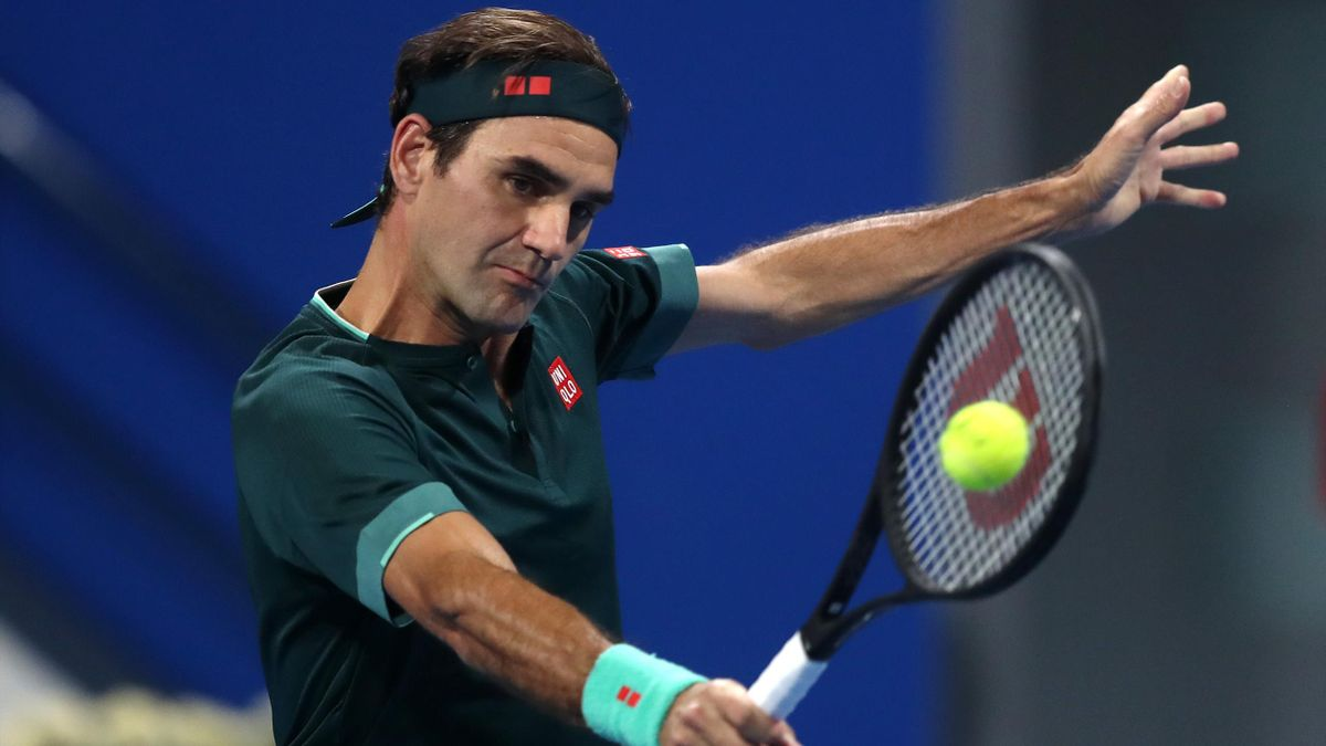 Roger Federer à Doha en 2021