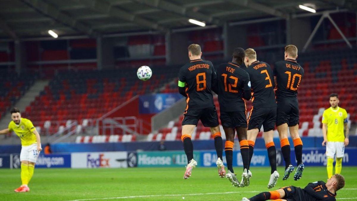 Andrei Ciobanu, gol superb marcat în meciul România U21 - Olanda U21