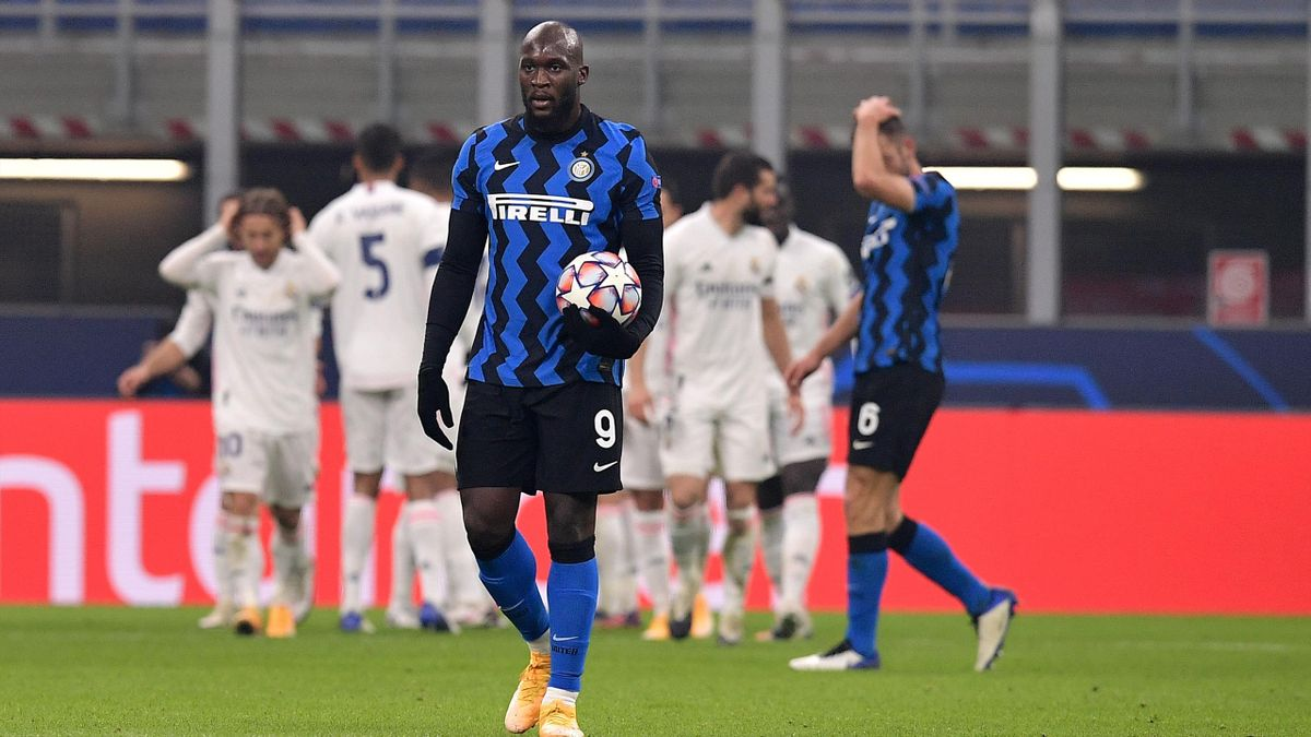 Romelu Lukaku incredulo dopo il ko contro il Real Madrid, Inter, Getty Images
