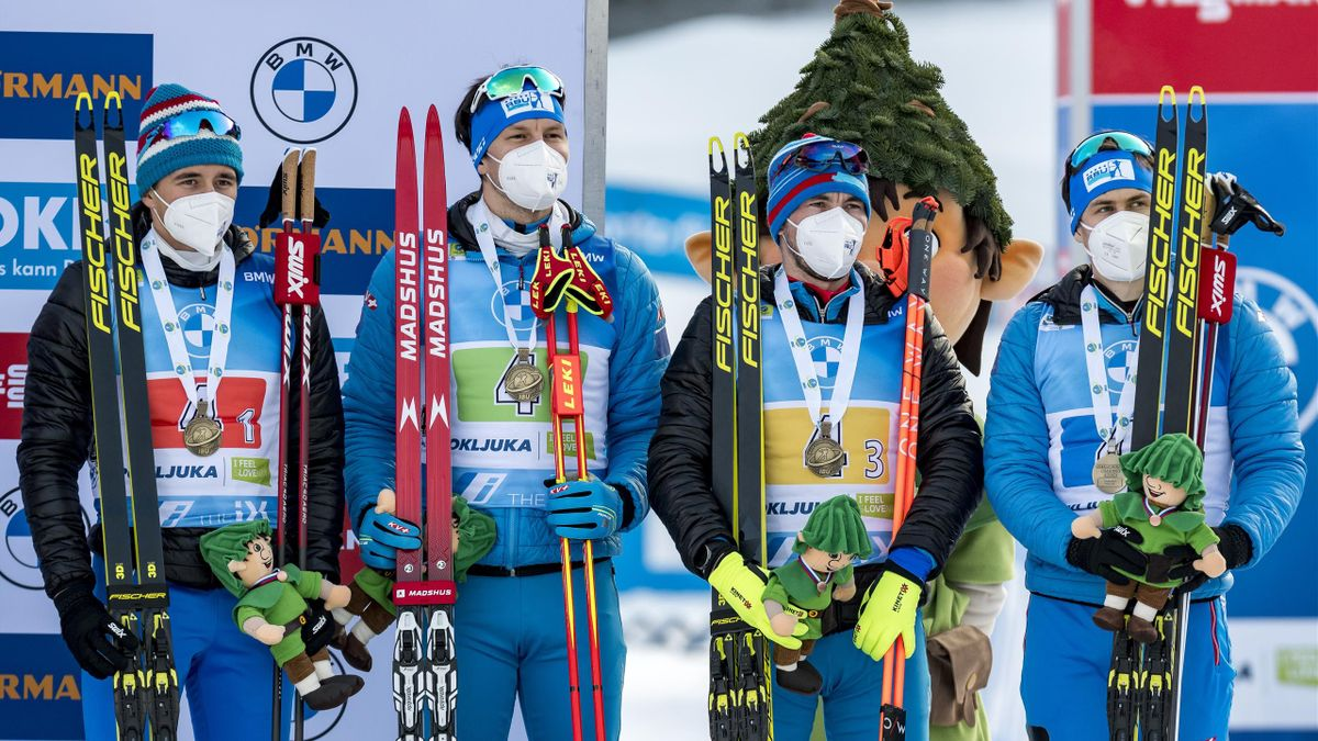 Die russische Biathlon-Staffel bei der WM in Pokljuka