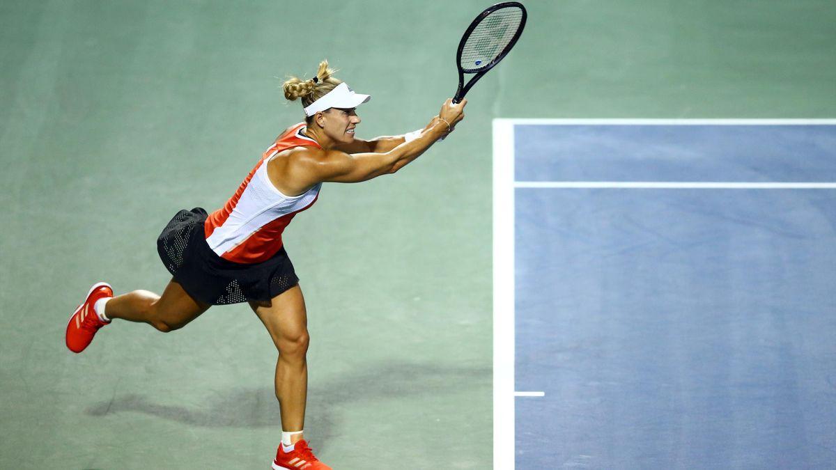 Angelique Kerber, lors de sa défaite au 1er tour de la Rogers Cup, face à Daria Kasatkina (0-6, 6-2, 6-4)