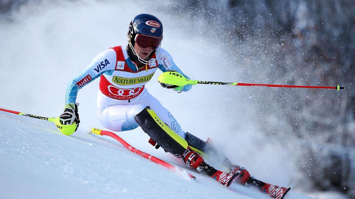 Mikaela Shiffrin lors du premier slalom d'Aspen