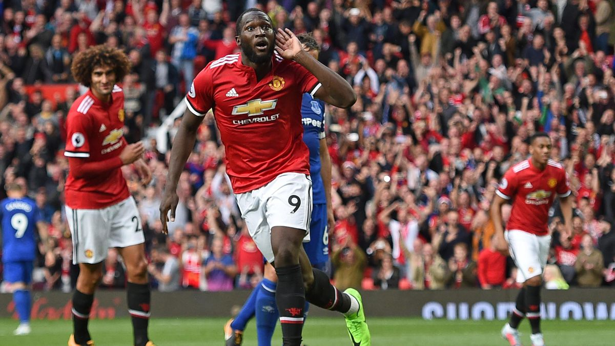 Romelu Lukaku avec Manchester United - 2017