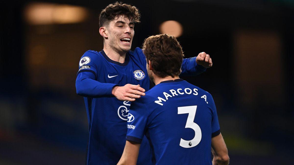 Kai Havertz (l.) blüht langsam beim FC Chelsea auf