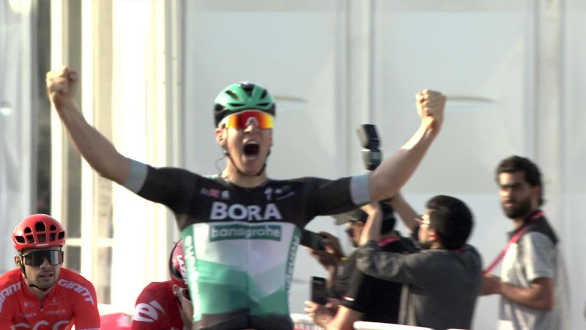 UAE Tour - Stage 1 - finish - winner Ackermann