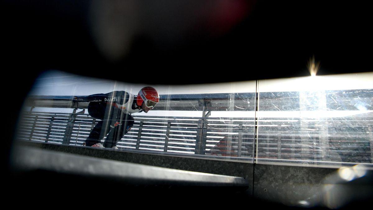 Markus Eisenbichler bei der nordischen Ski-WM in Oberstdorf