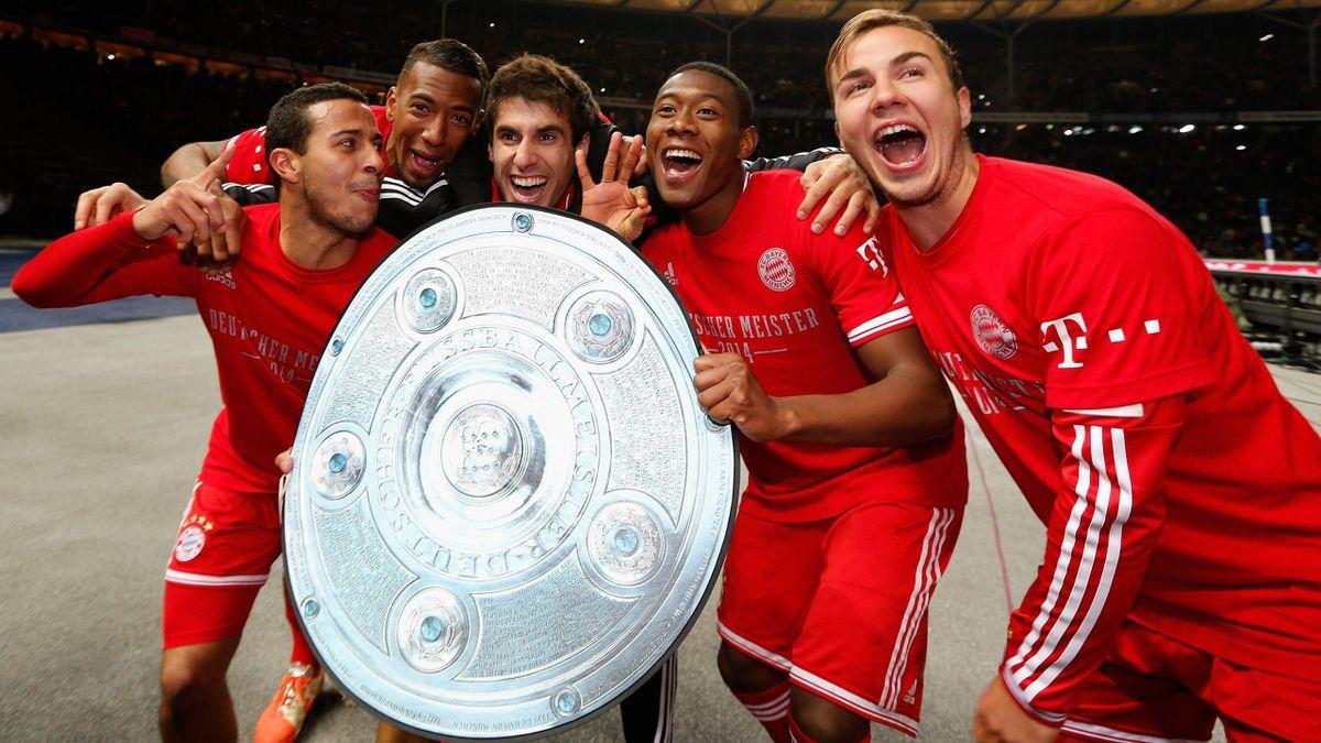 25. März 2014: Die Bayern feiern die Meisterschaft