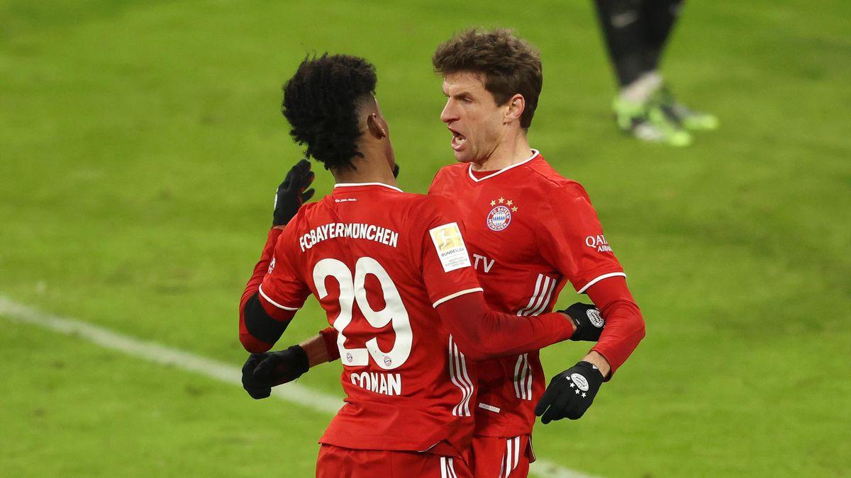 Coman et Müller (Bayern) face à Leipzig