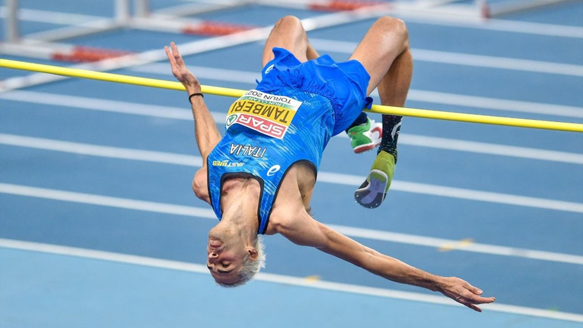 Gianmarco Tamberi agli European Athletics Indoor Championship 2021
