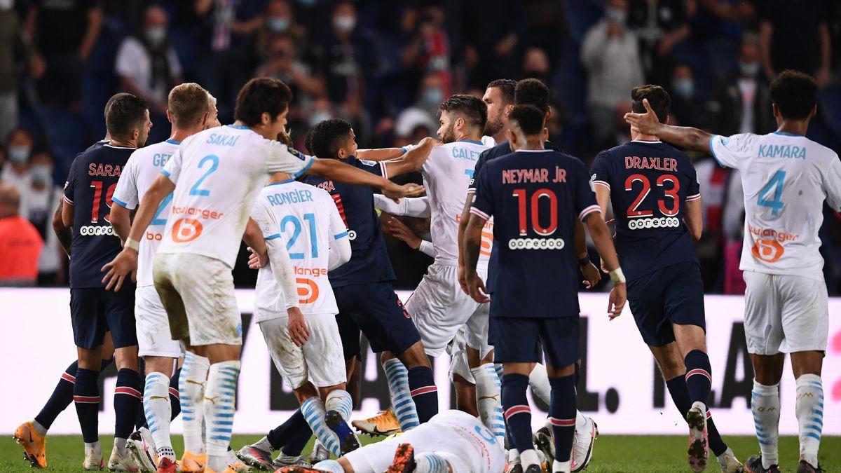 Bagarre générale lors de PSG - OM / Ligue 1