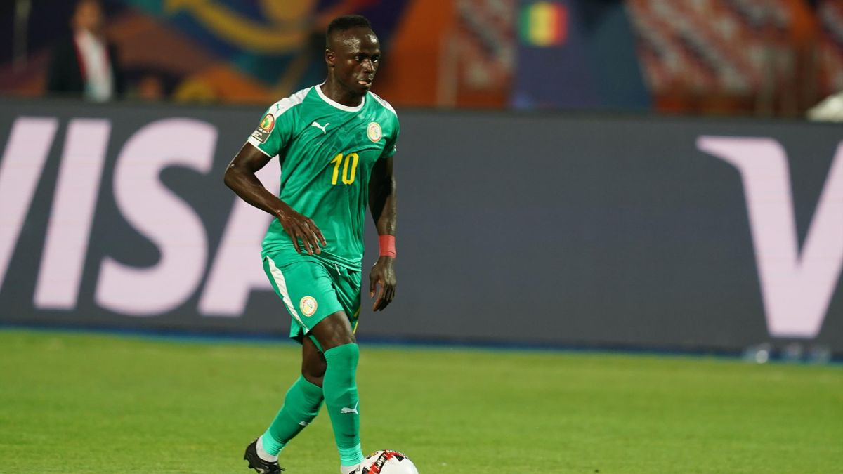 Sadio Mane of Senegal during the Final of 2019 African Cup of Nations match between Algeria and Senegal at the Cairo International Stadium in Cairo, Egypt on July 19, 2019