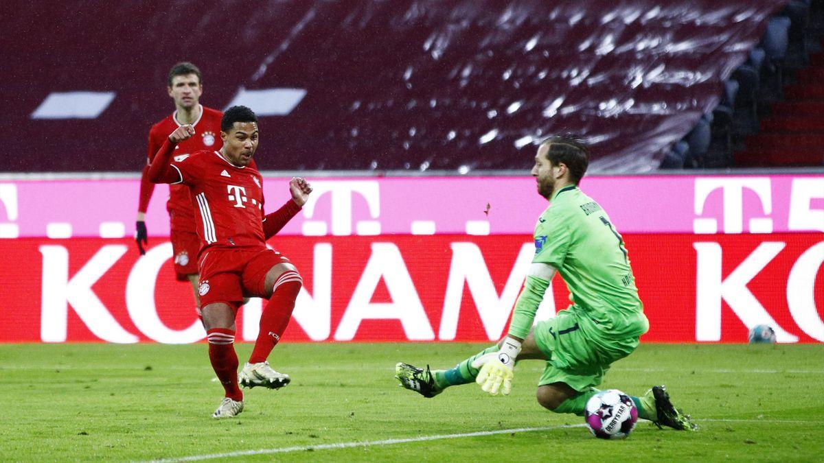 Serge Gnabry trifft zum 4:1 - FC Bayern München vs. TSG 1899 Hoffenheim