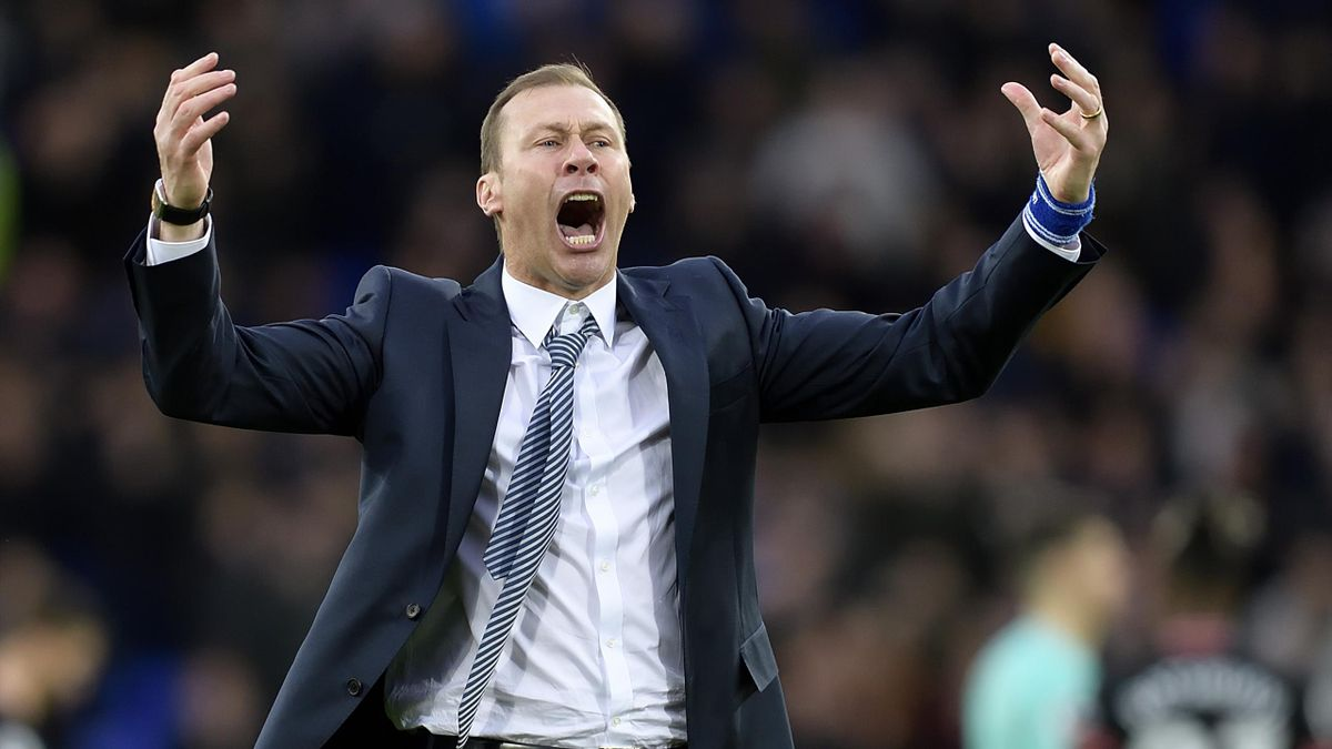 Duncan Ferguson celebrates after the Premier League match between Everton and Chelsea at Goodison Park on December 7, 2019 in Liverpool, England.