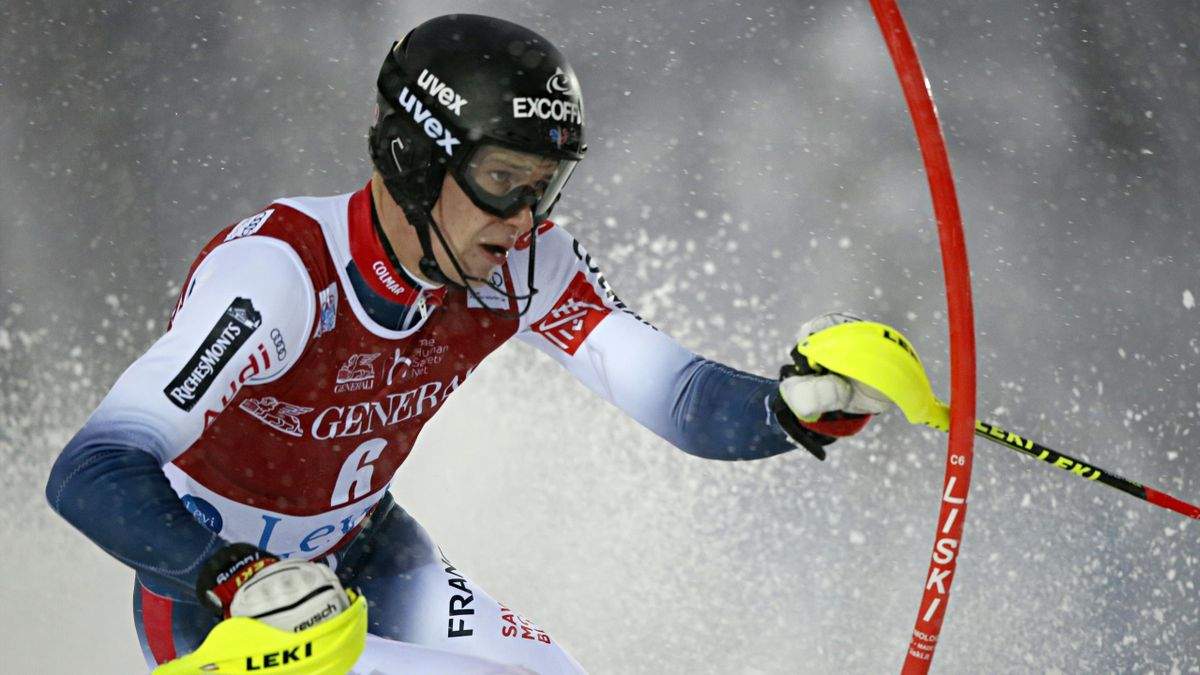 Clement Noel of France in action during the Audi FIS Alpine Ski World Cup Men's Slalom on November 24, 2019