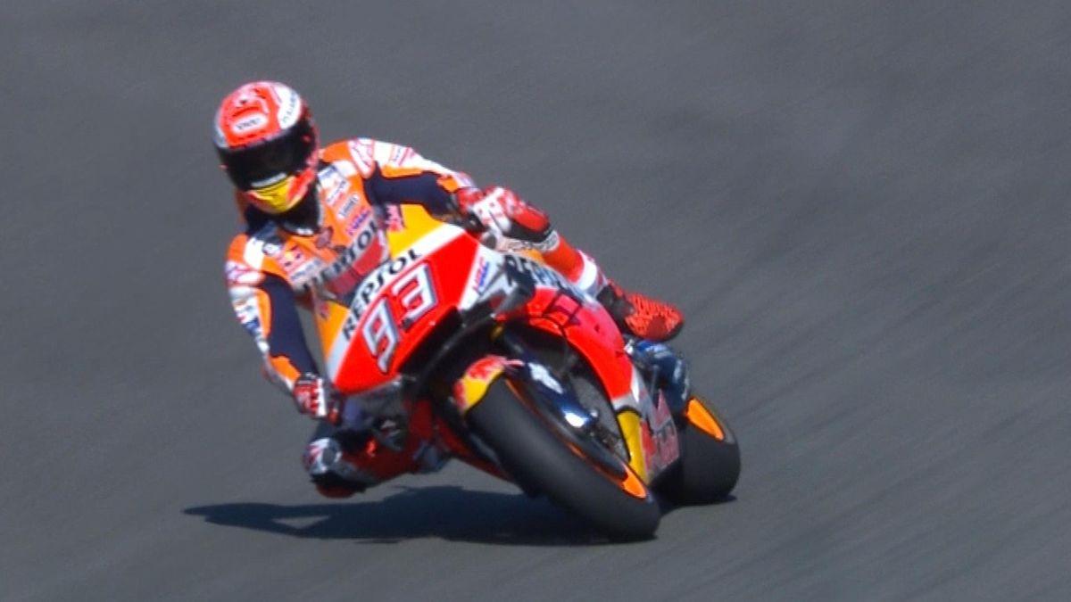 Spain Grand Prix - Moto GP FP1 - Best lap for Marquez