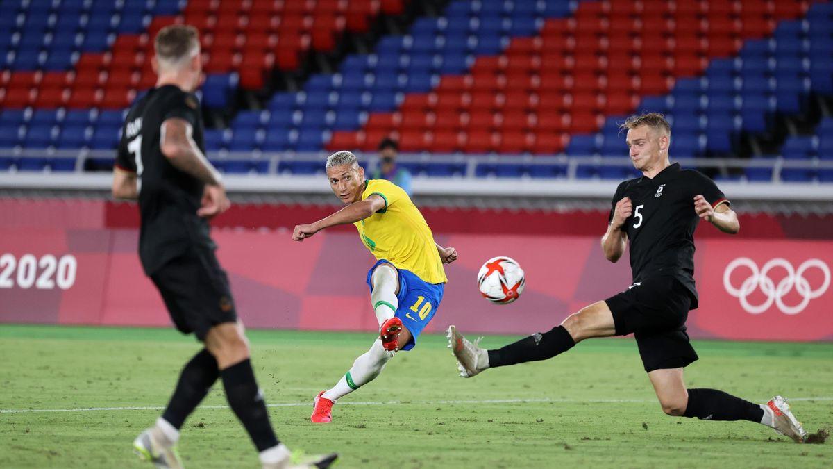 Das deutsche Team hat zum Auftakt des Fußballturniers gegen Brasilien verloren