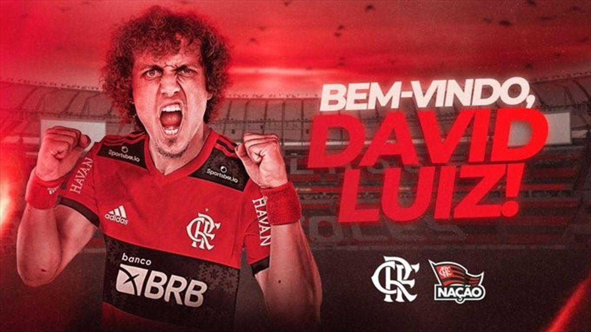 David Luiz presentato dal Flamengo - dal sito ufficiale del Flamengo