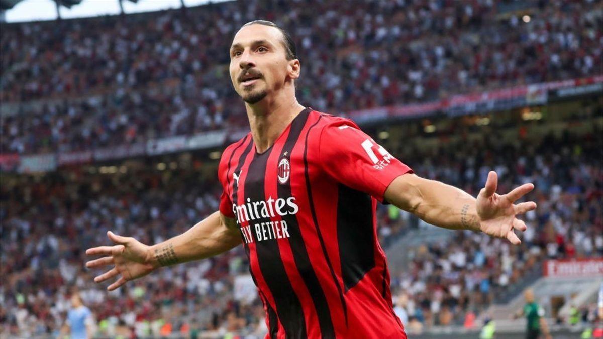 Zlatan Ibrahimovic celebrates