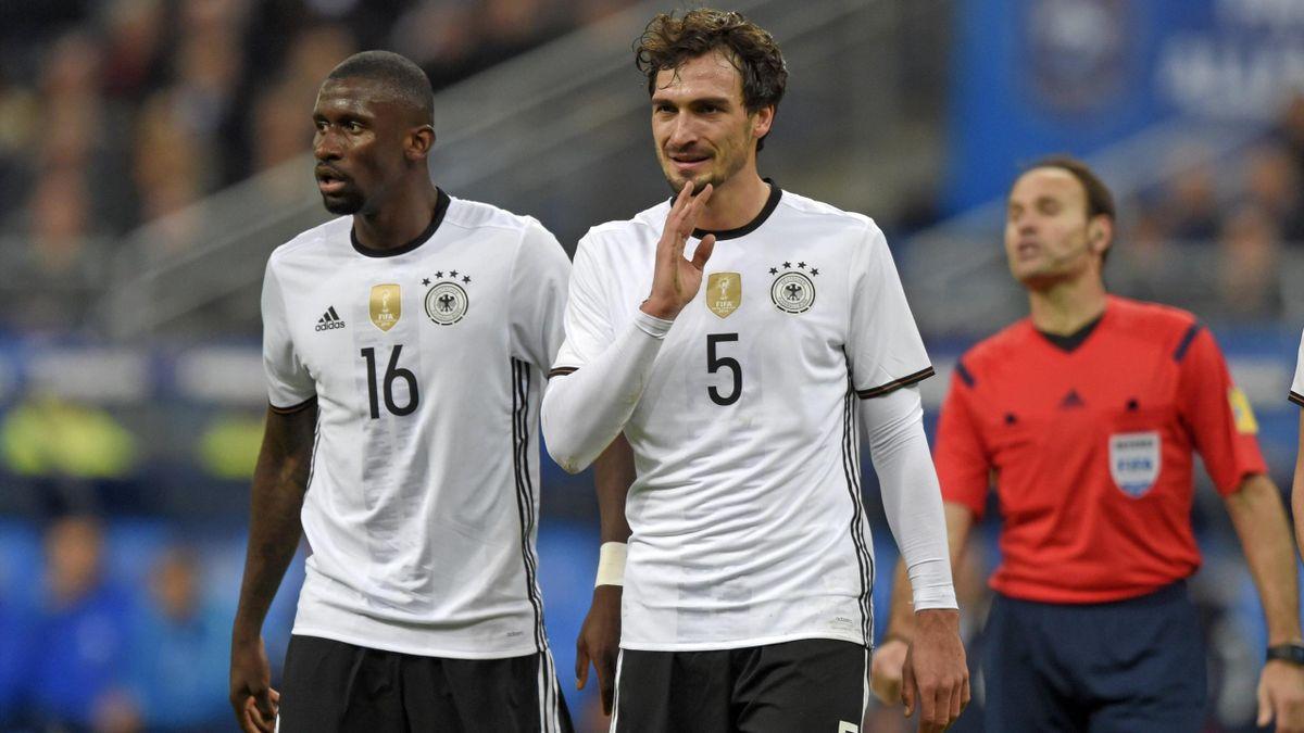 Antonio Rüdiger und Mats Hummels im Trikot der deutschen Nationalmannschaft