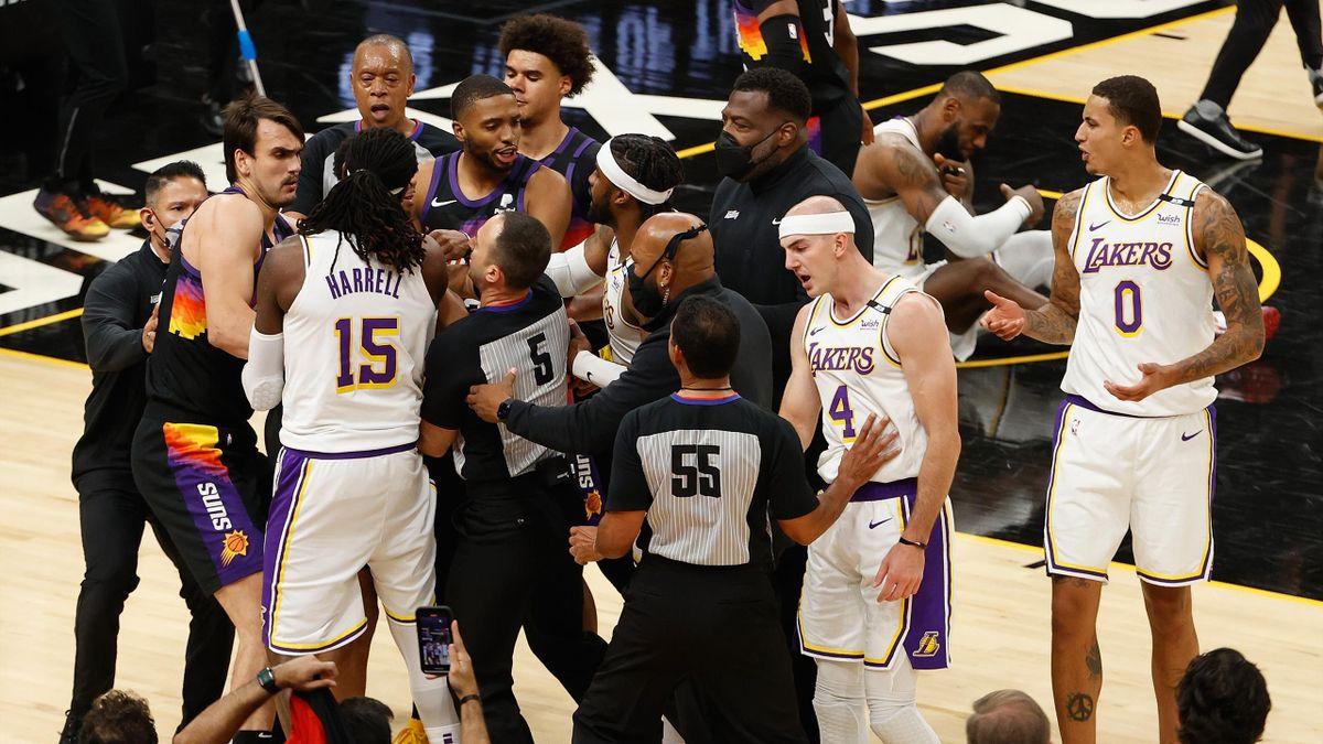 Ca a chauffé lors du match 1 entre Suns et Lakers