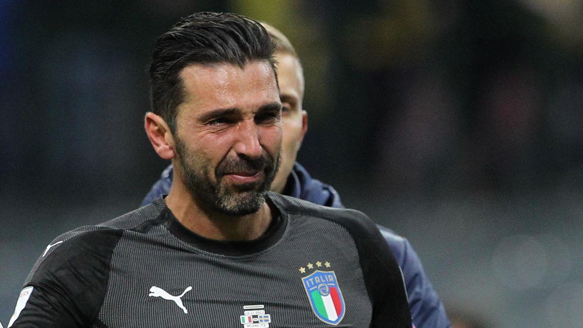 Gigi Buffon crying, Italia-Svezia, Getty Images