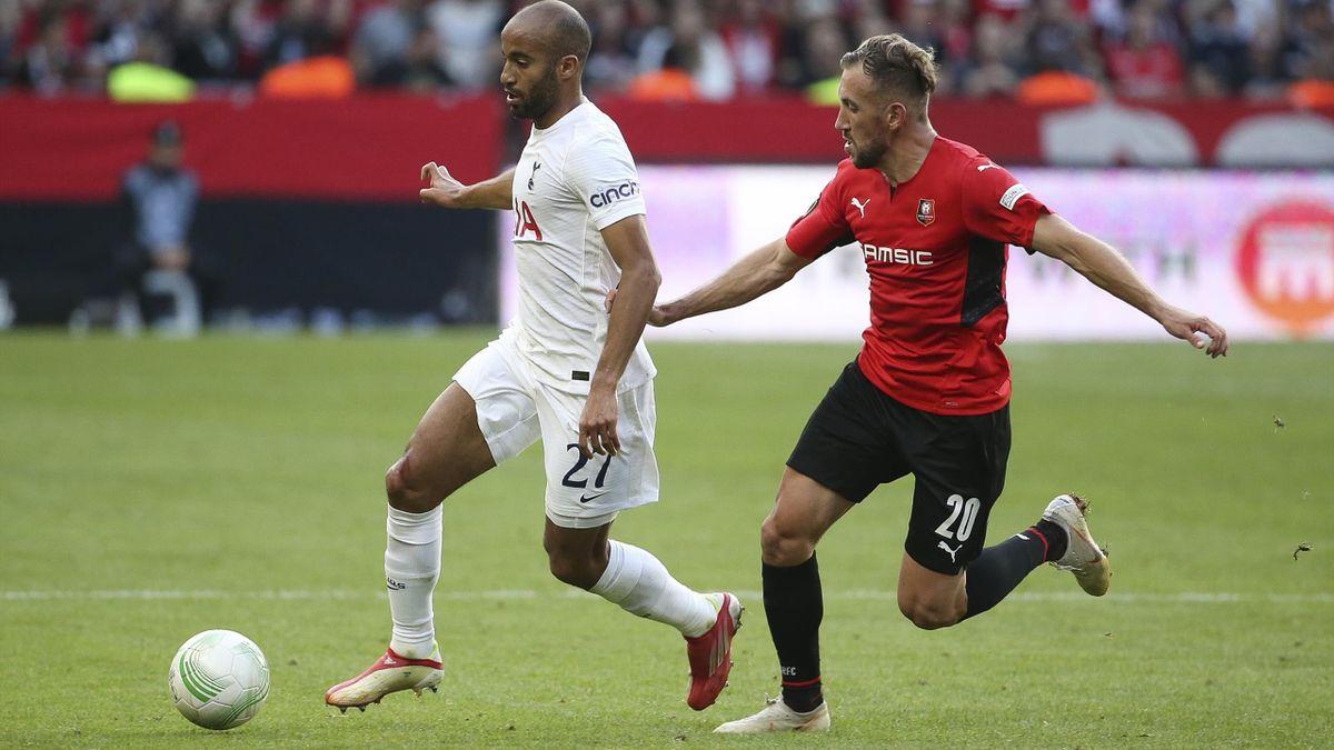 Lucas et Tait lors de Rennes-Tottenham