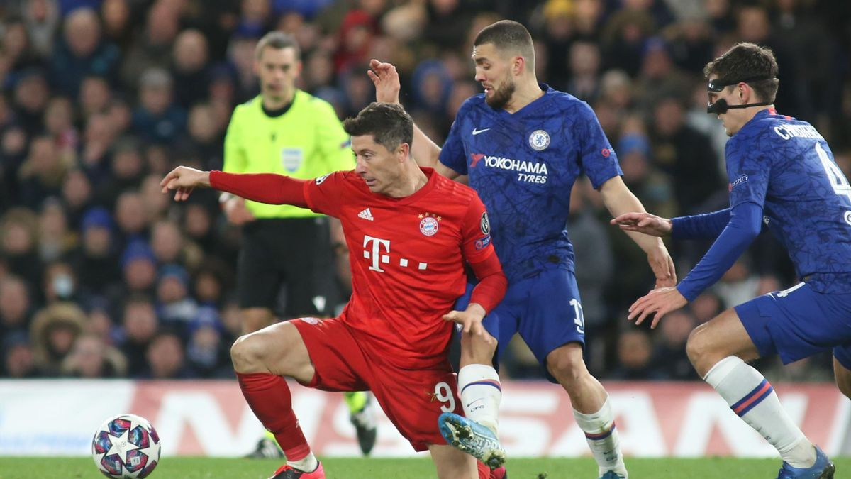 Robert Lewandowski im Spiel gegen den FC Chelsea