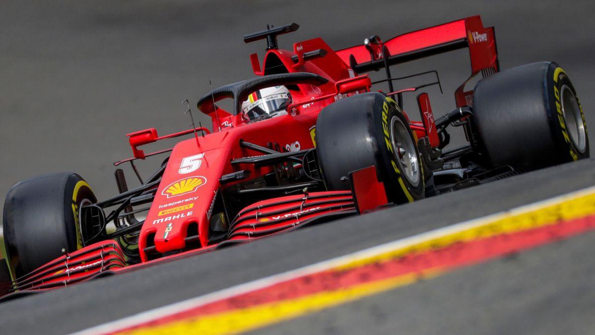 Sebastian Vettel geht beim Großen Preis von Belgien nur von Startplatz 14 aus ins Rennen
