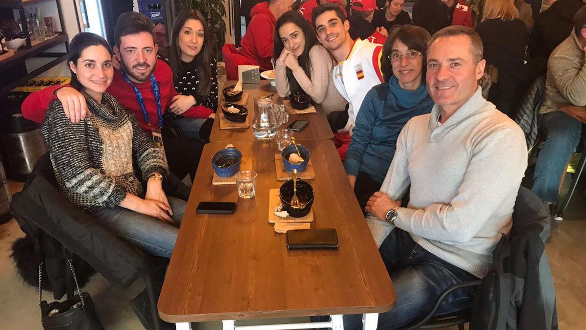 Javier Fernández y familia