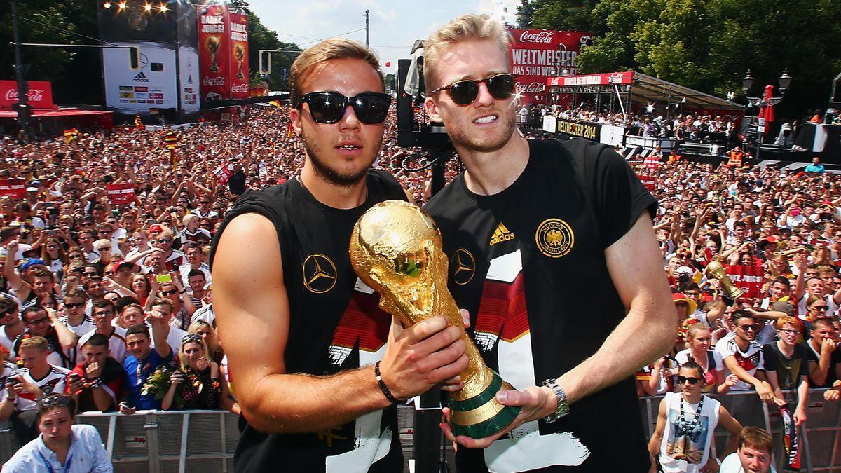 Götze et Schürrle, vainqueurs de la Coupe du monde 2014