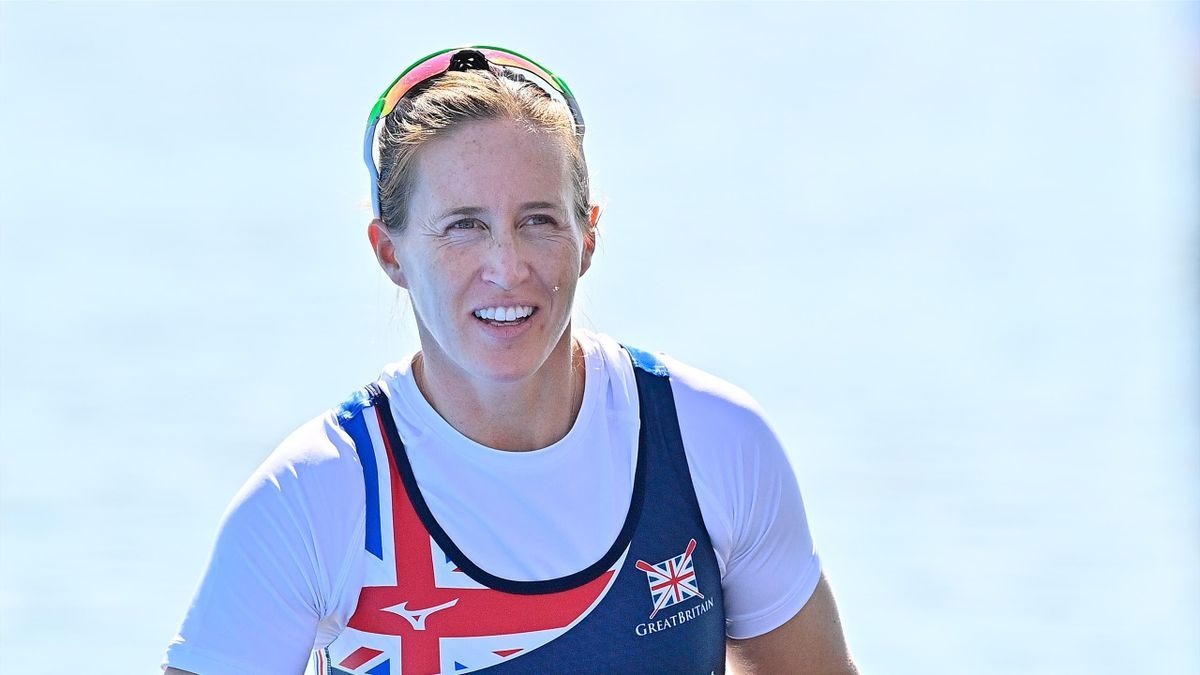 Helen Glover of Great Britain Rowing Team looks on before the European Rowing Championships 2021