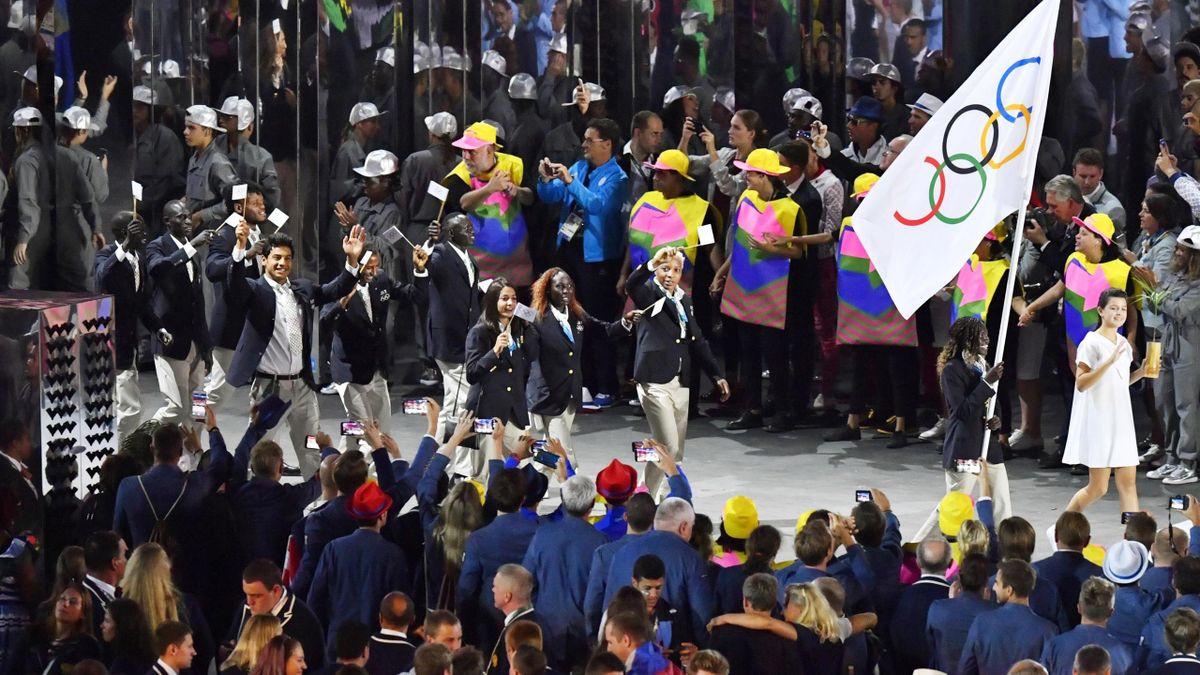 IOC-Flüchtlingsteam 2016 in Kyodo