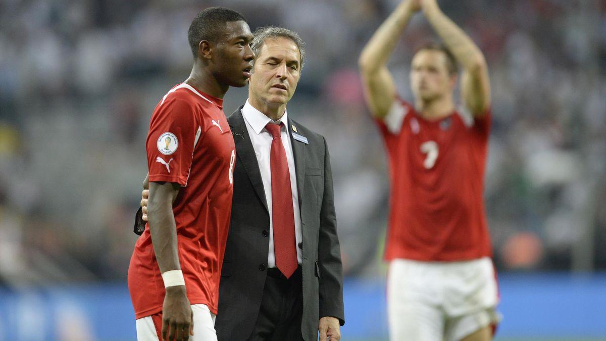 David Alaba und sein ehemaliger Nationaltrainer Marcel Koller