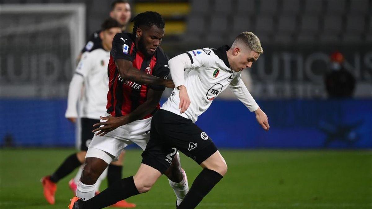 Franck Kessié, Nahuel Estevez - Spezia-Milan Serie A 2020-21
