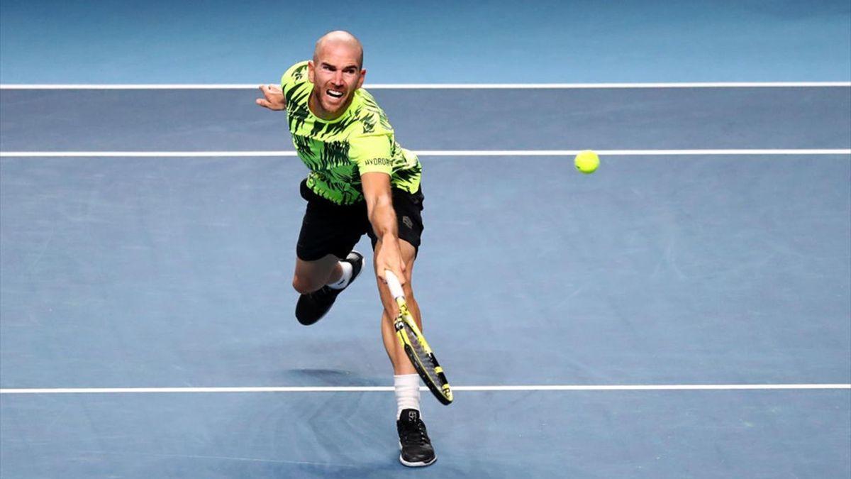 Adrian Mannarino au tournoi de Singapour 2021