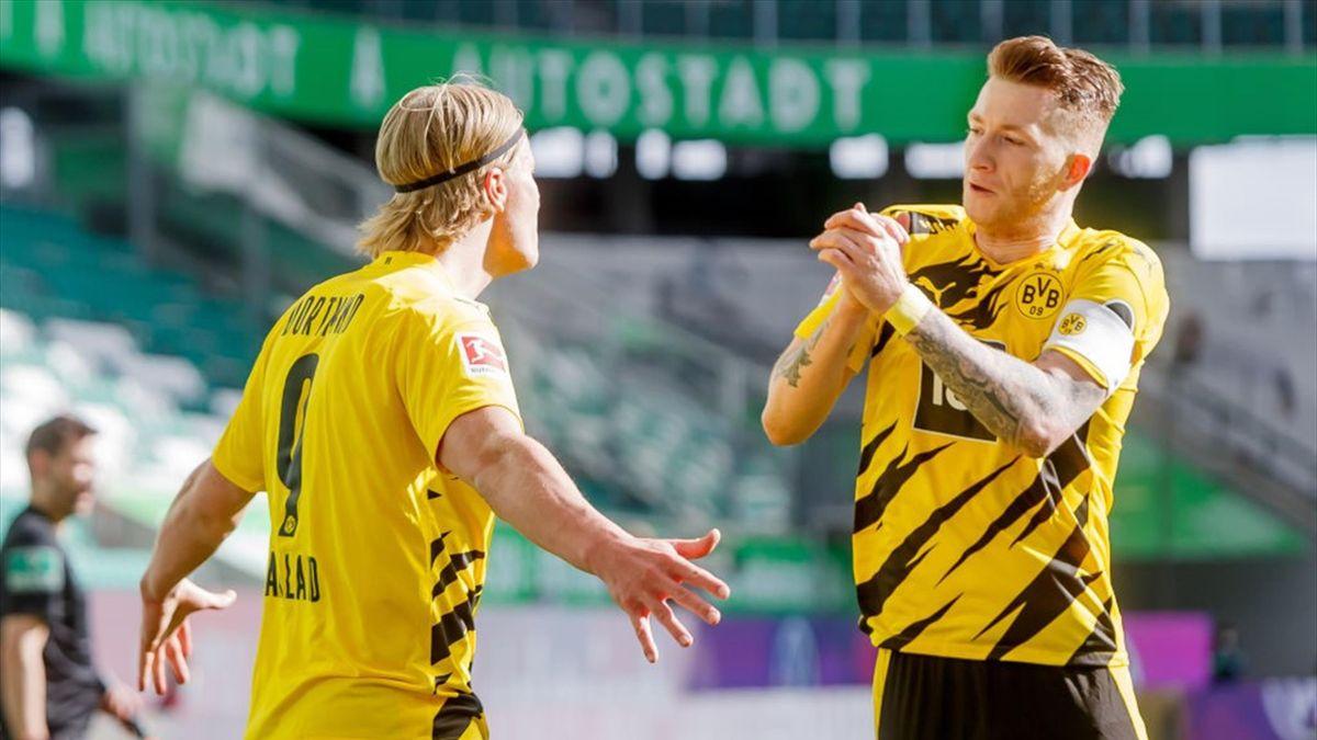 Erling Haaland und Marco Reus