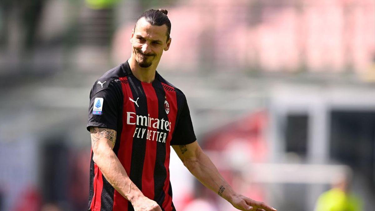Zlatan Ibrahimovic lors de AC Milan - Sampdoria en Serie A le 3 avril 2021