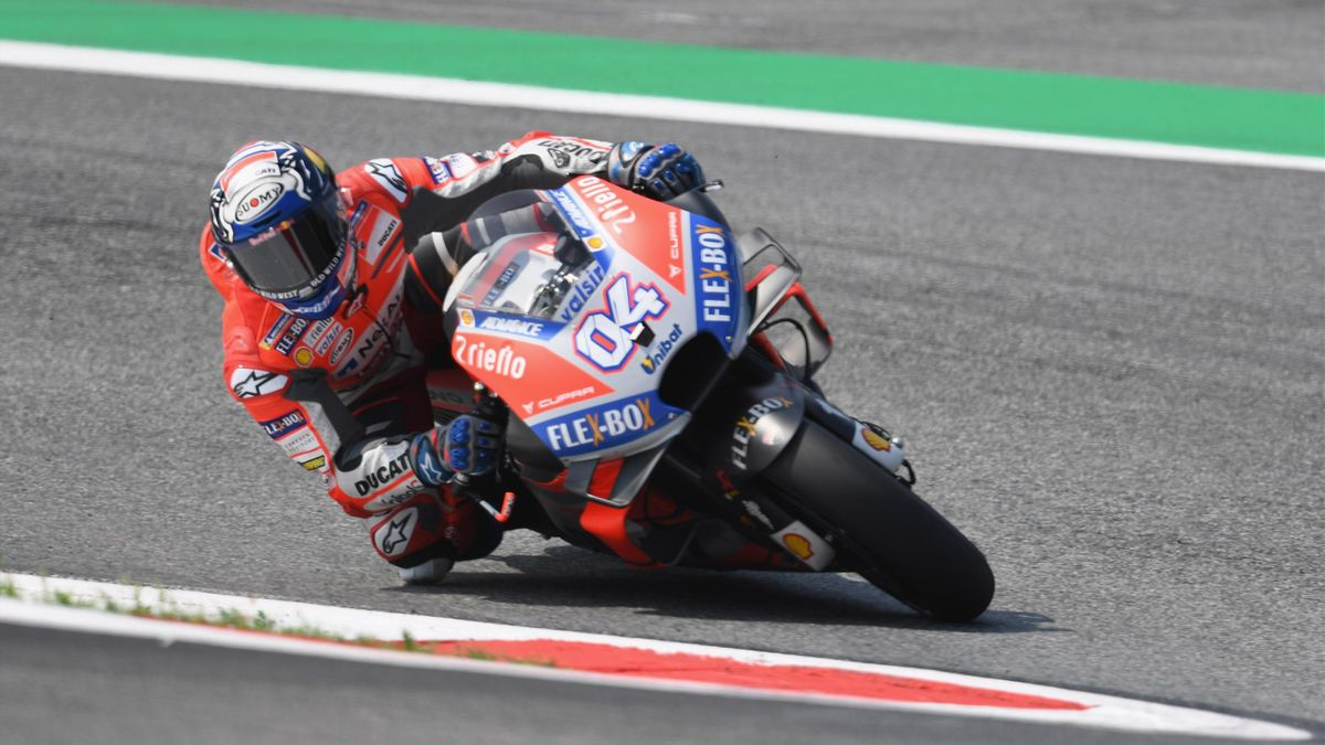Andrea Dovizioso of Italy and Ducati Team rounds the bend during the MotoGp of Austria - Free Practice at Red Bull Ring on August 10, 2018 in Spielberg, Austria