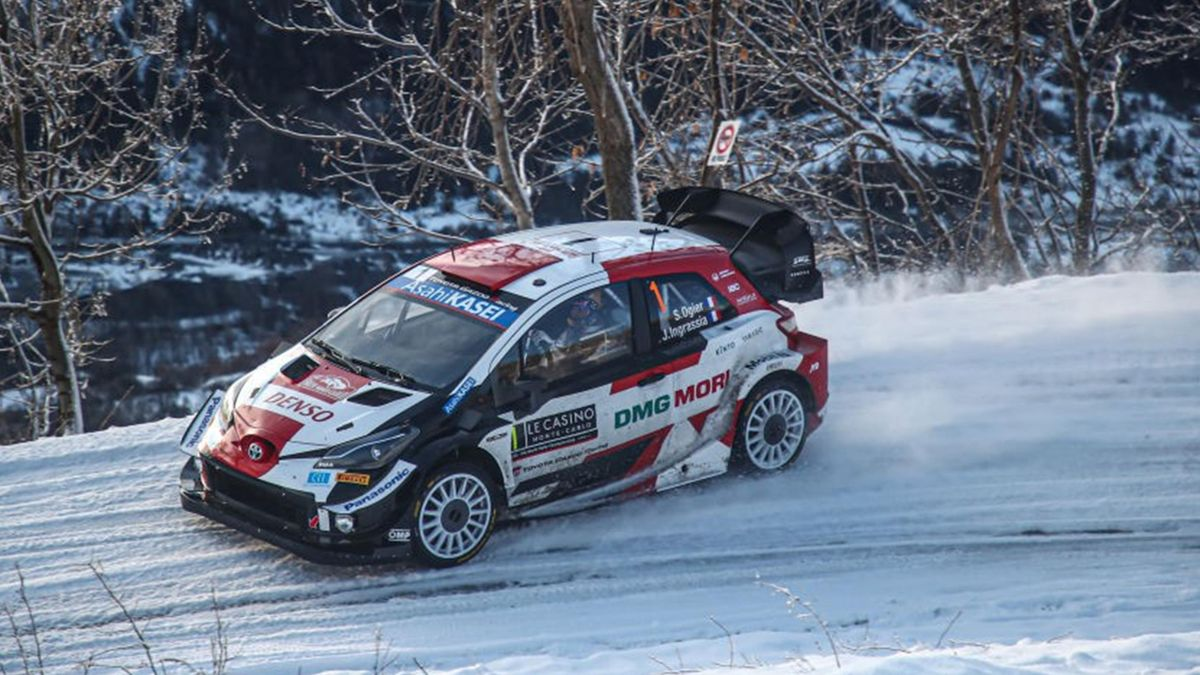 Sébastien Ogier (Toyota) au Rallye Monte-Carlo 2021