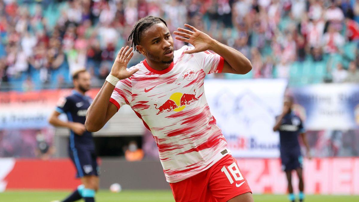 Nkunku trifft zum 1:0 gegen Hertha BSC
