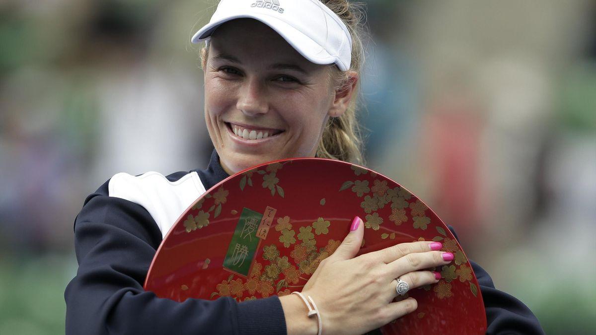 Caroline Wozniacki, tras ganar el torneo WTA Tokio 2017