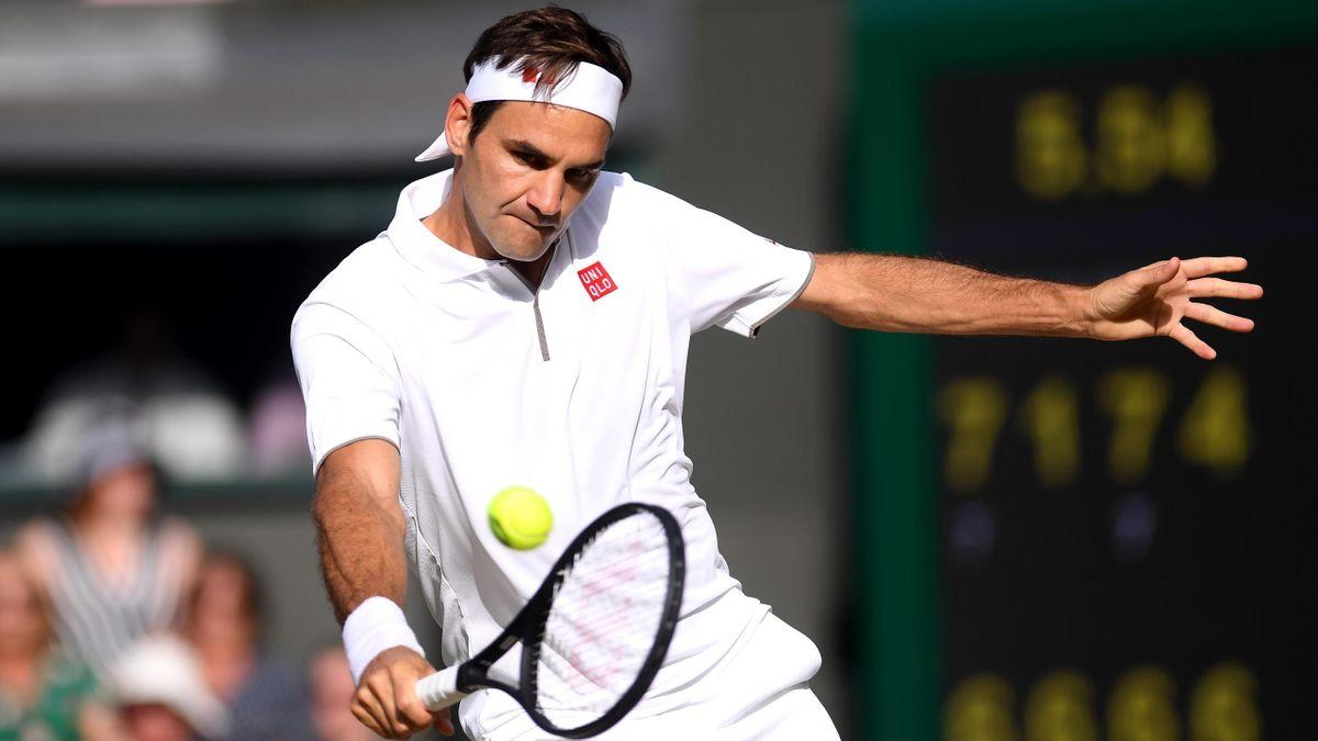 Roger Federer a 2019-es wimbledoni tornán