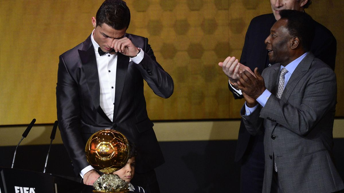 CR7 cries as he gets the golden egg