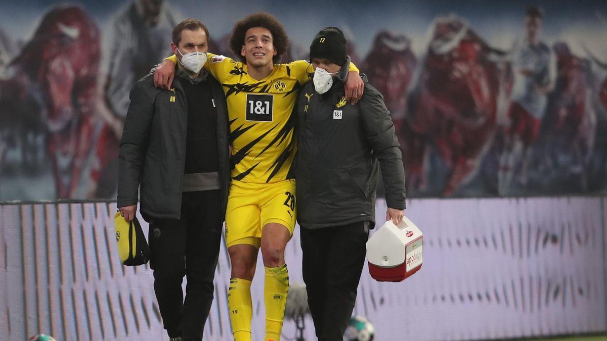 BVB-Star Axel Witsel (mitte) verletzte sich in Leipzig