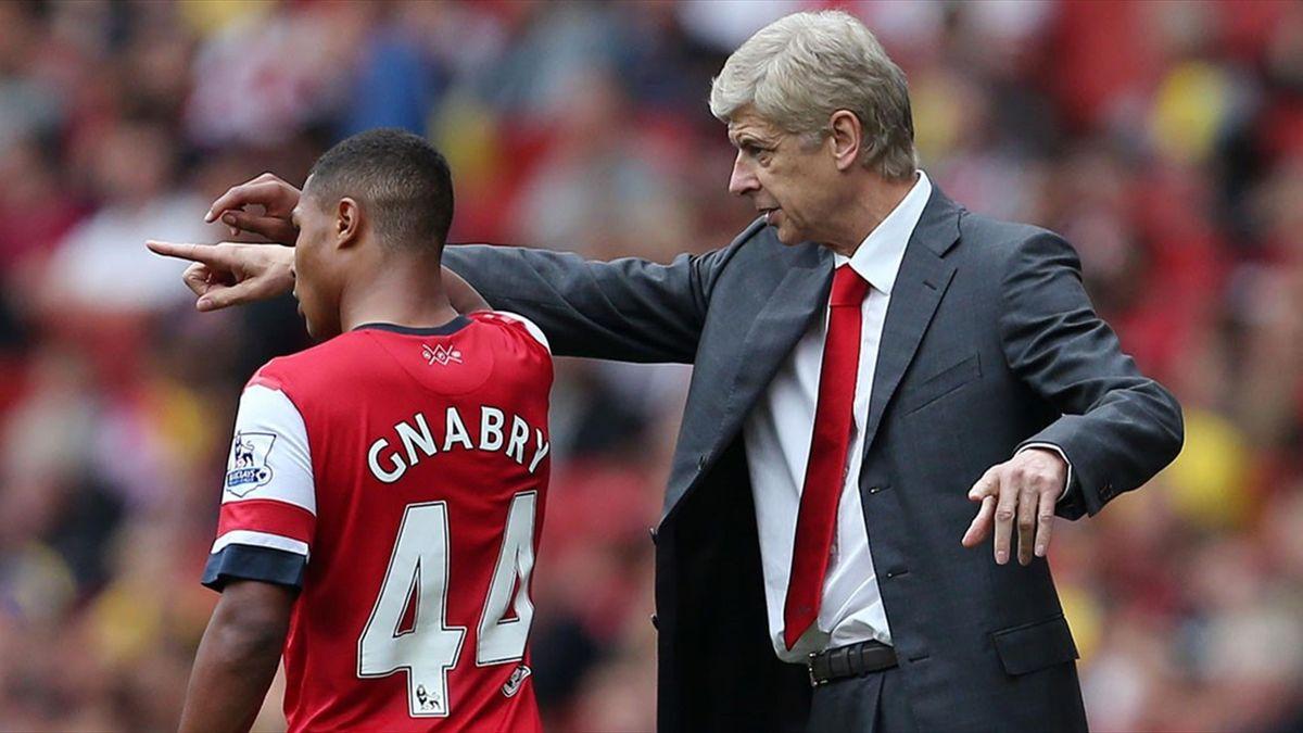 Gnabry şi Wenger, la Arsenal