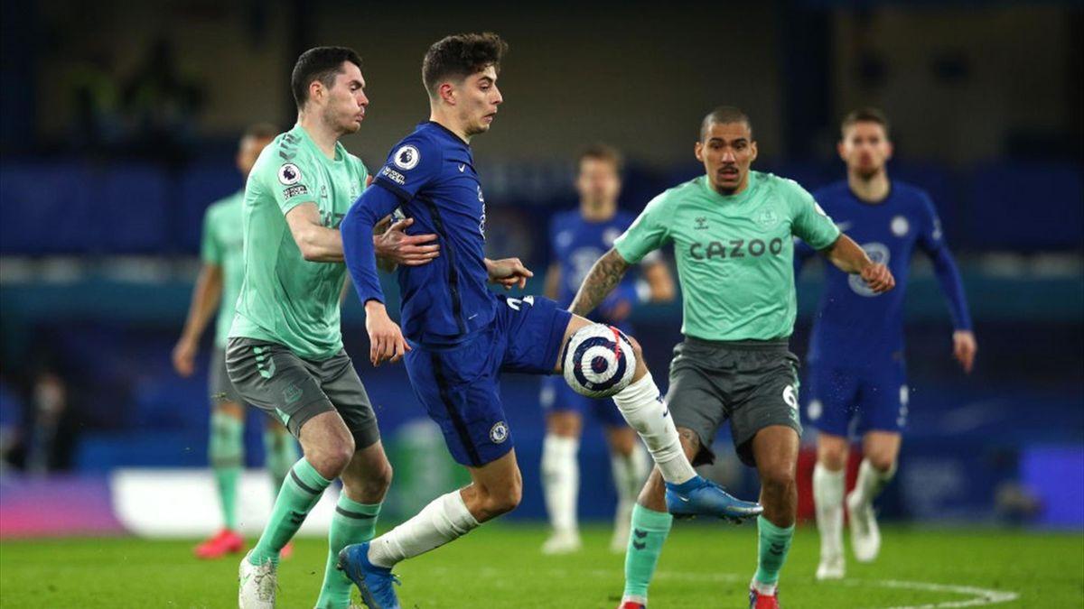 Kai Havertz lors de Chelsea - Everton en Premier League le 8 mars 2021