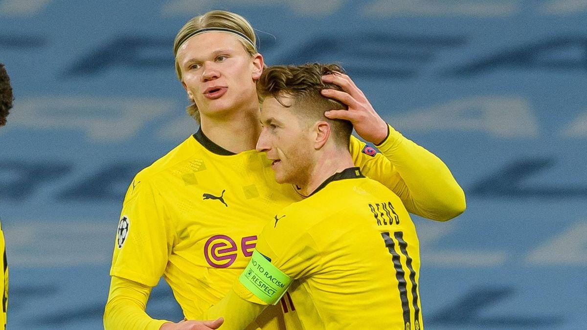 Erling Haaland und Marco Reus von Borussia Dortmund
