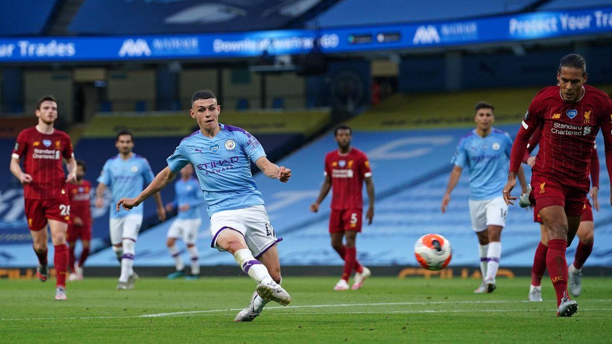 Phil Foden, într-un duel Manchester City - Liverpool
