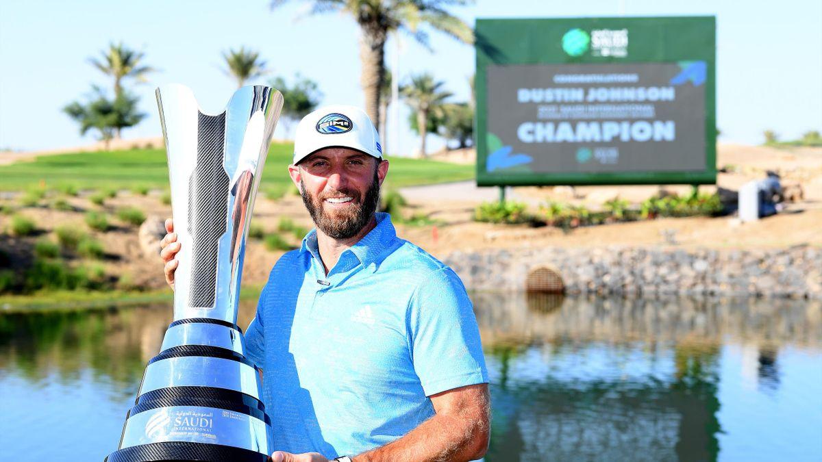 L'Américain Dustin Johnson, vainqueur du Saudi International Open 2021
