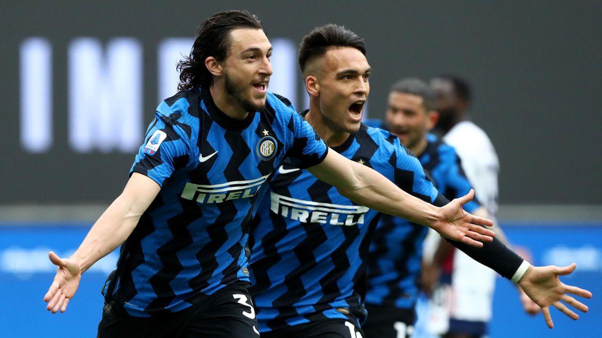 Matteo Darmian esulta dopo il gol contro il Cagliari, Inter-Cagliari, Serie A 2020-21, Getty Images